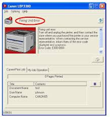 Máy in canon lbp 3300 báo lỗi fixing unit error