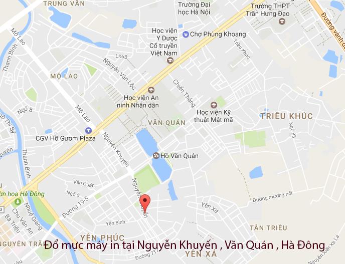 Đổ mực máy in tại đường Nguyễn Khuyến , Văn Quán , Hà Đông