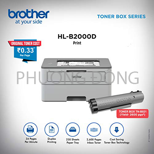 Đổ mực máy in brother hl-b2000D